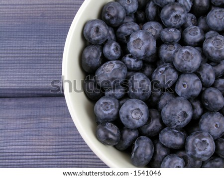 bowl full of sweet and fresh blueberries