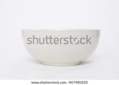 bowl isolated on white background - stock photo