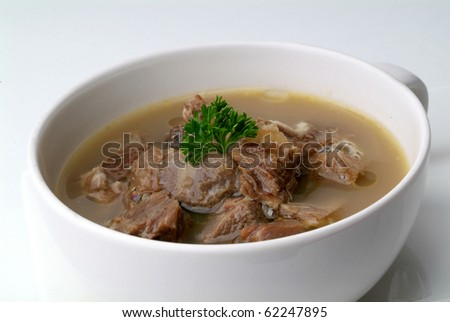 bowl of Beef Soup - stock photo