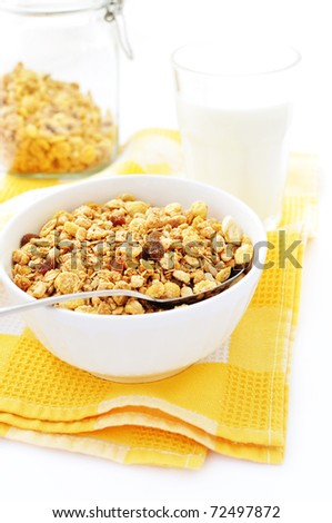 Bowl of cereal - stock photo