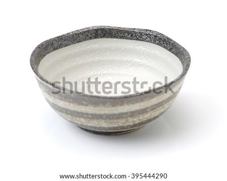 bowl of china on white background - stock photo