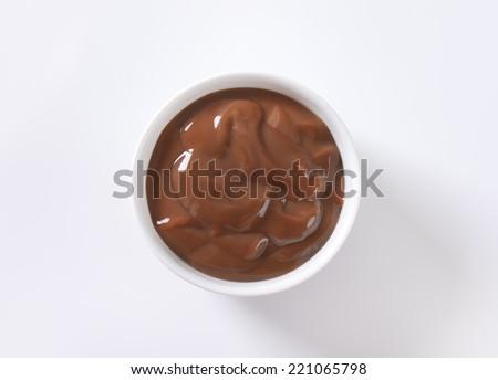 bowl of chocolate pudding - stock photo