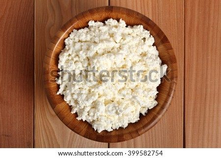 Bowl of cottage cheese - stock photo