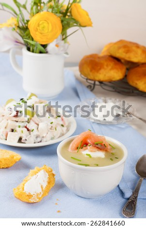 cream soup with smoked salmon and cream smoked salmon and cream cheese ...