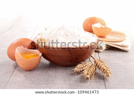 bowl of flour and ingredient