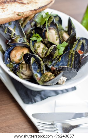 Bowl of Fresh Honey Mussels
