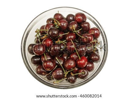 Bowl of freshly washed Cherries