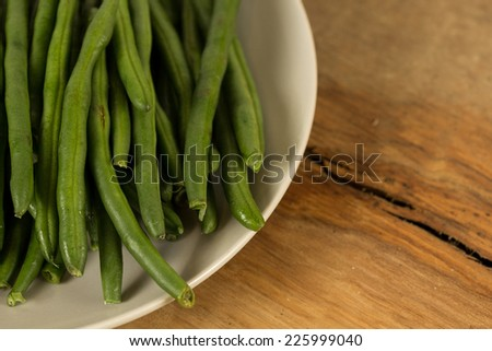 Bowl of green beans  - stock photo
