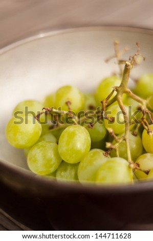 Bowl of green grapes