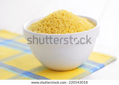 bowl of millet - food and drink - stock photo