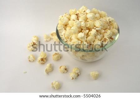 bowl of popcorn - stock photo