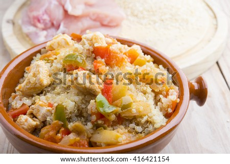 Bowl of quinoa with vegetables