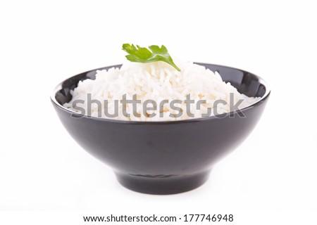 bowl of rice - stock photo