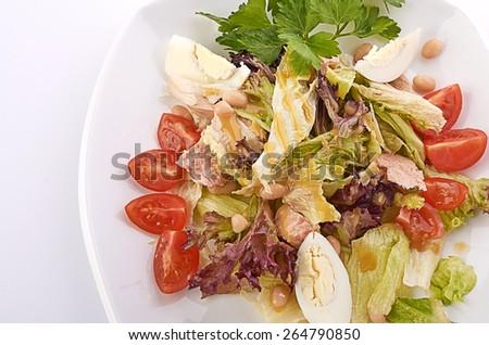 bowl of salad - stock photo