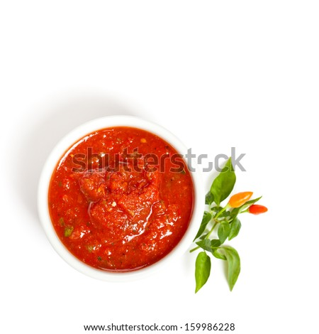 Bowl of salsa - stock photo