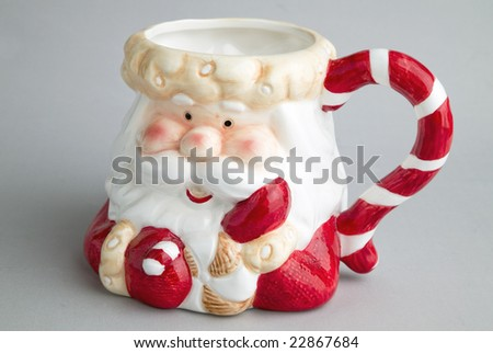 bowl of Santa Claus - stock photo