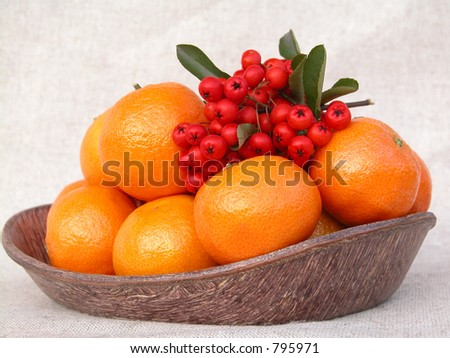 bowl of sweet clementines