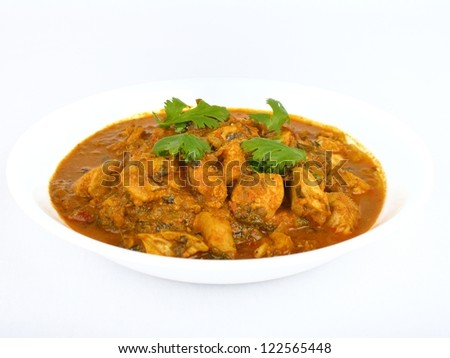 Bowl of traditional Indian chicken curry