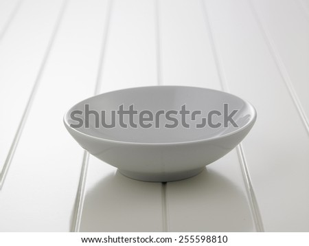 bowl on the white surface table - stock photo