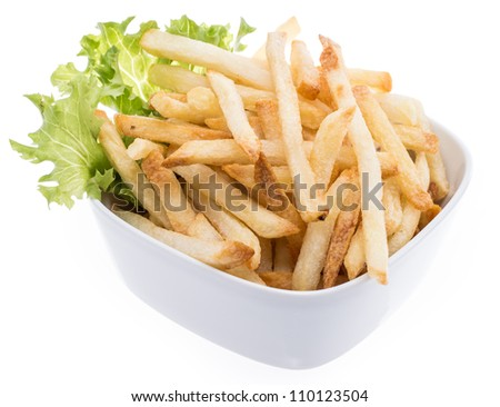 Bowl with Chips isolated on white background