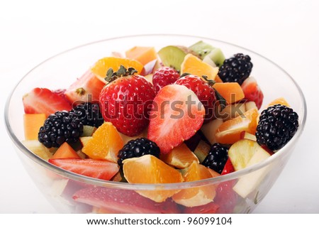 Bowl with fresh fruit salad