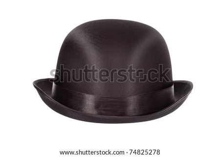 bowler hat isolated on white background clipping path included
