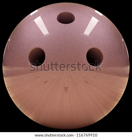 Bowling ball isolated on black - stock photo