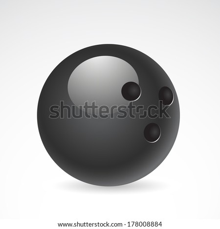 Bowling ball isolated on white background.  - stock photo