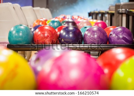 bowling balls - stock photo