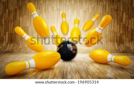 bowling concept - stock photo