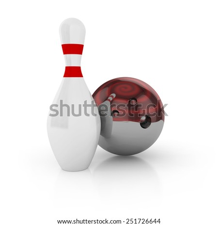 Bowling concept. 3d Illustration - stock photo