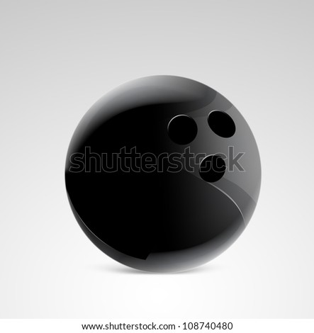 Bowling pin on gradient background - stock photo