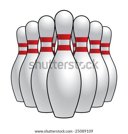 Bowling Pins (Vector Available)