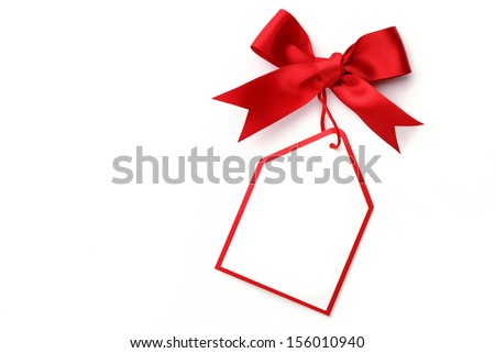 Bows with tags - stock photo