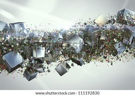 box chaos - stock photo