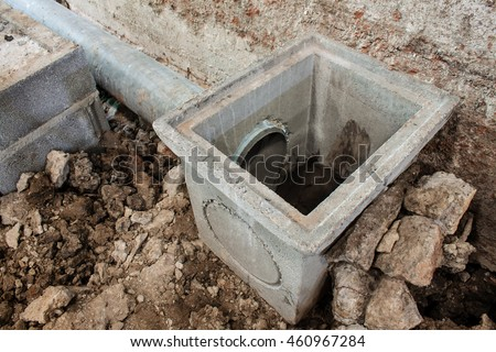 Culvert cover stock photos royalty free images vectors for Waste drainage system
