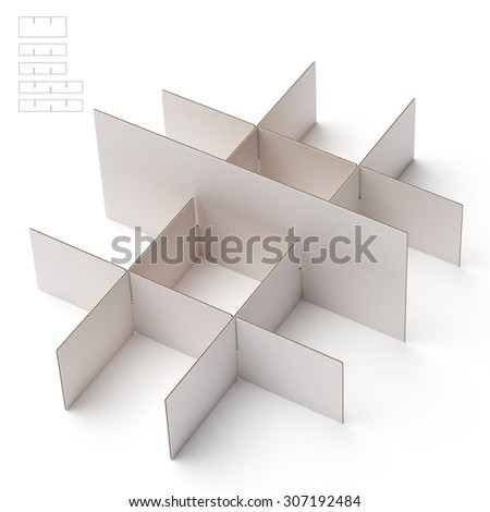 Box dividers with Blueprint Die Line
