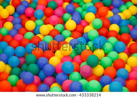 box filled with small colored balls