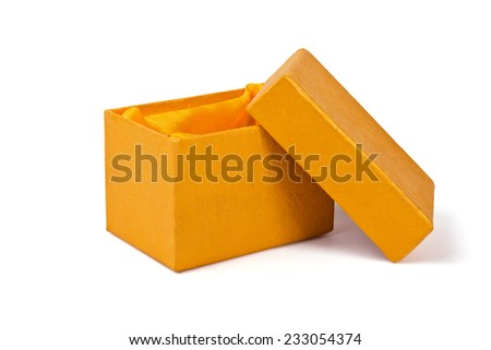 Box for a small souvenir on a white background