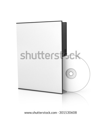 box for DVD with a disk