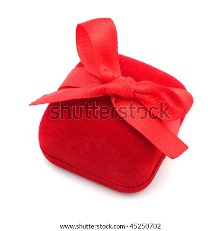 Box for jewelry. Isolated object. - stock photo