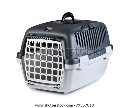 Box for pets on a white background. - stock photo