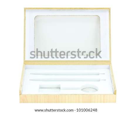 box isolated on a white background. - stock photo