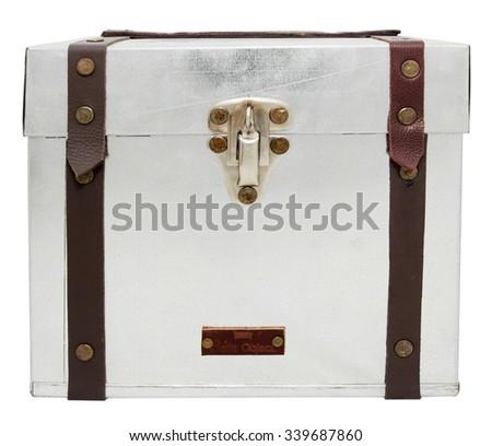 Box isolated on white background - stock photo
