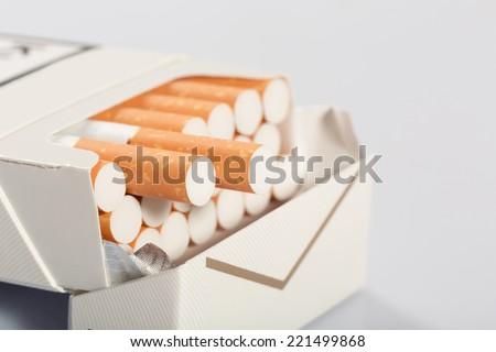 Box of cigarettes - stock photo