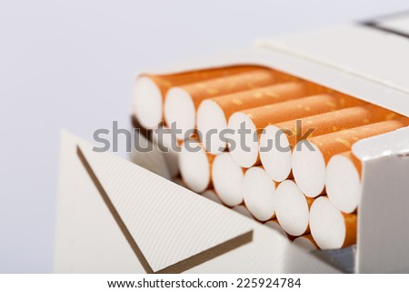 Box of cigarettes - stock photo