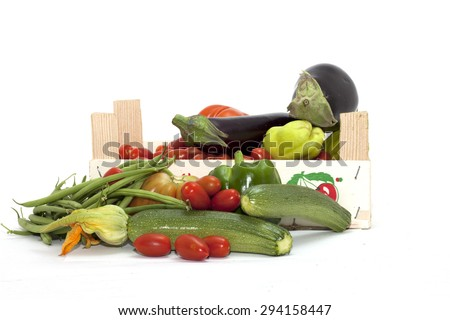 box of mixed vegetables