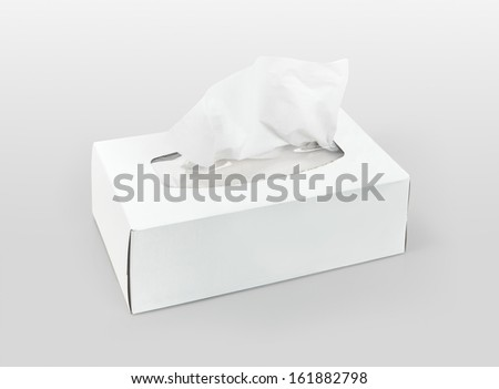 Box of tissues - stock photo