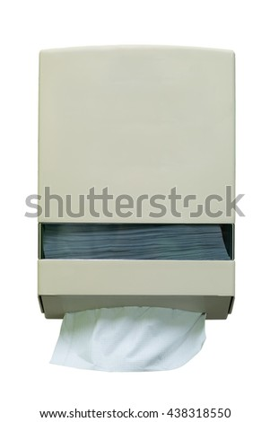 Box of tissues isolated on white background. For toilet with clipping path - stock photo