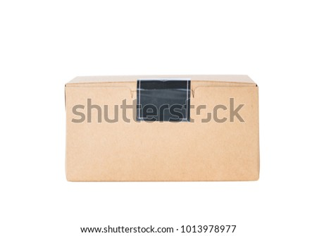 box paper on isolated white background
